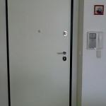 Protuprovalna vrata ALFA, bijela, pogled iznutra